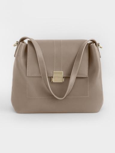 Лаконичная сумка с коротким плечевым ремнем